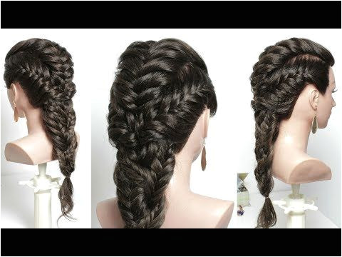 Easy Hairstyle With Braid For Long Hair Tutorial
