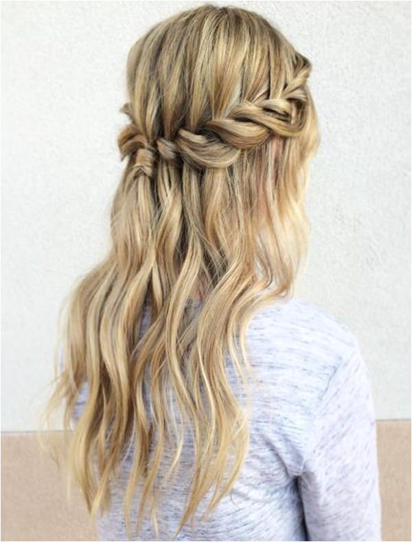 As we feel pleasant when we view a mesmerizing waterfall and the same is the case with a cute three strand waterfall braid