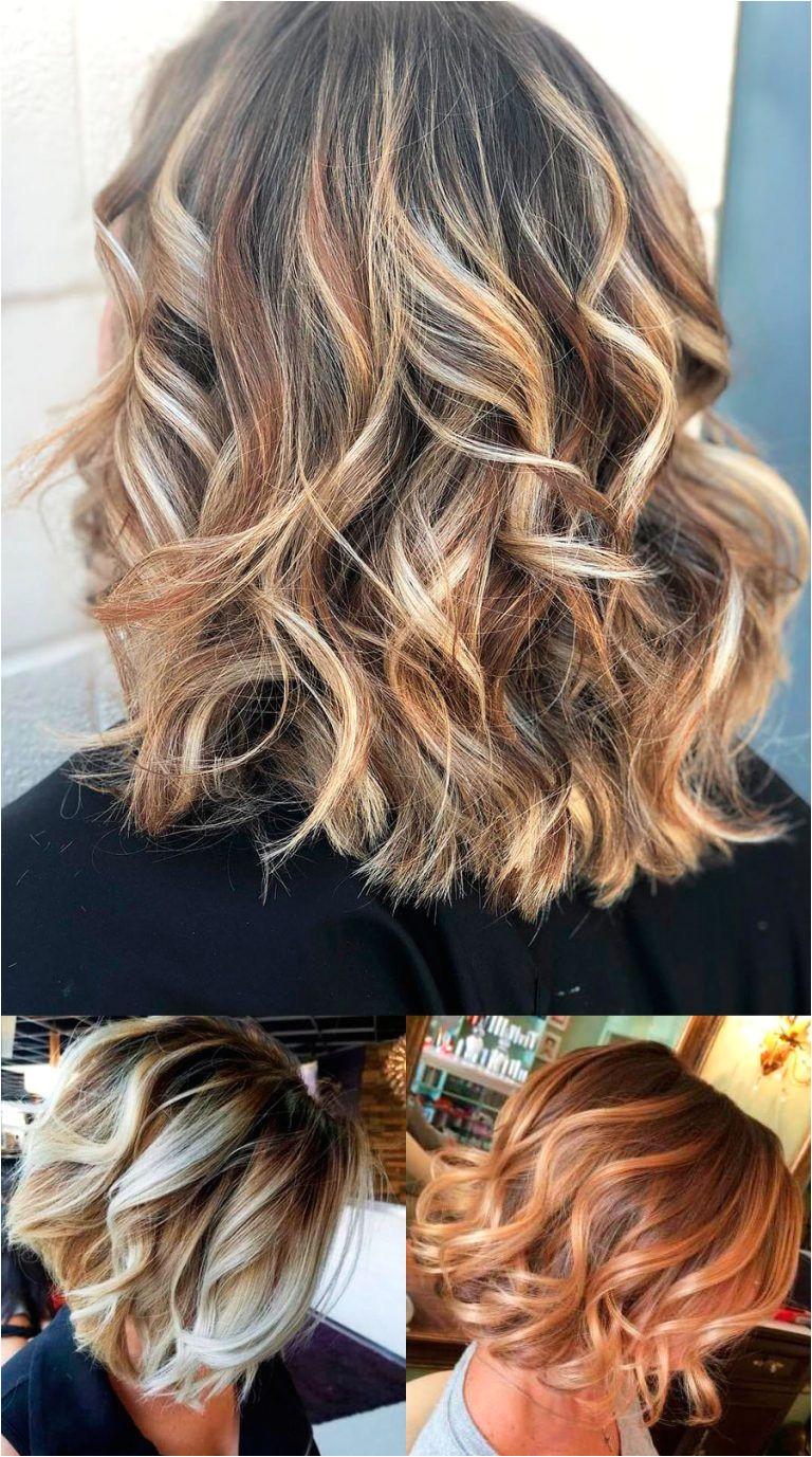 Elegant balayage short curly hair looks short hair short curly hair