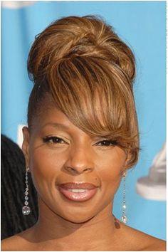 Mary J Blige Hairstyles 2017 Updo Bob Ponytail