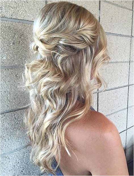Half Up Twisted Hair for Prom