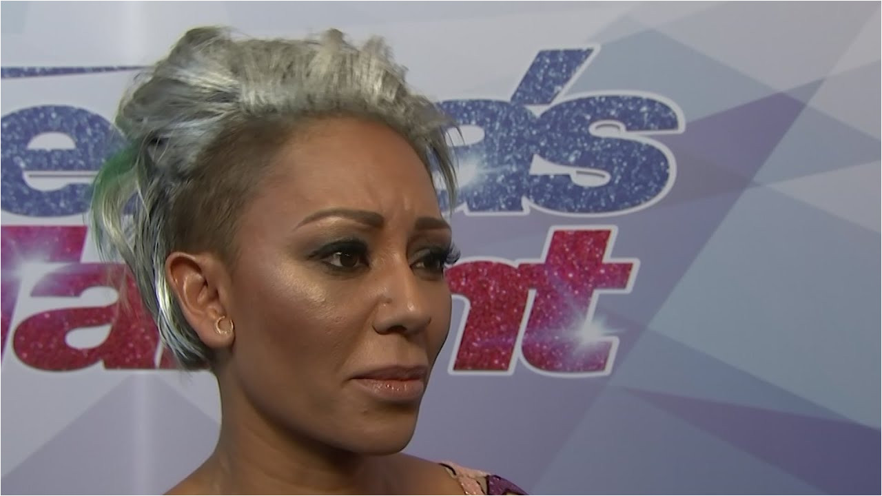 Mel B Hairstyles On America S Got Talent Mel B Storms Off America S Got Talent Set