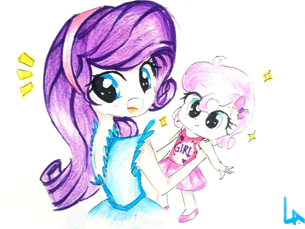 Rarity Mlp Little Sisters My Little Pony May Liro Pony