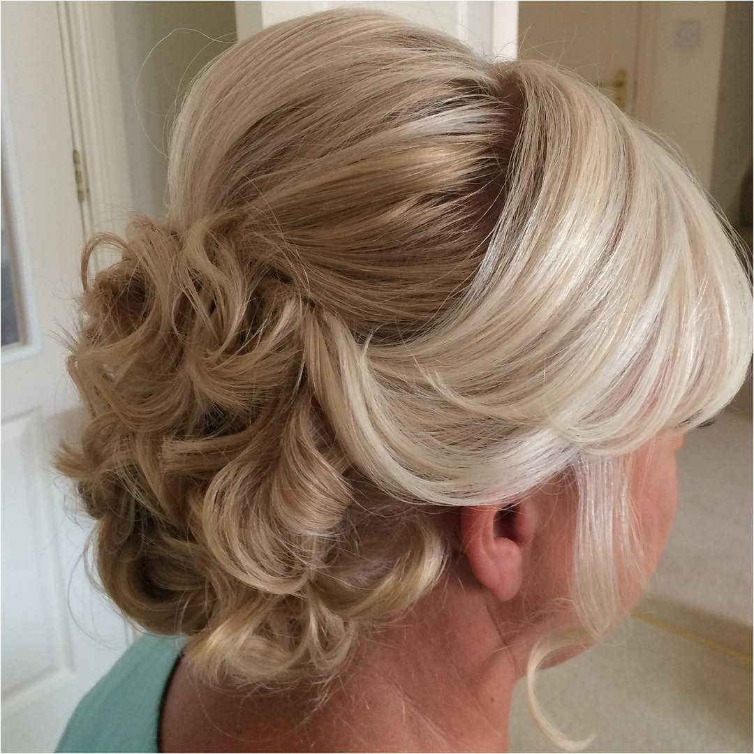 2 curly updo with bouffant for older women