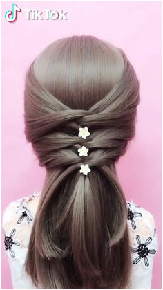 Super easy to try a new hairstyle Download TikTok today to find more