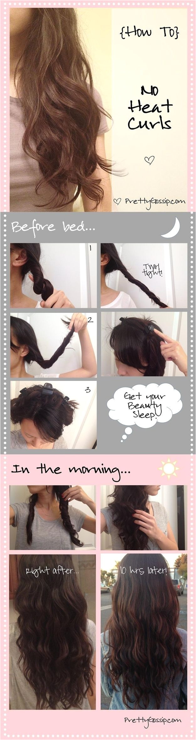 you can these perfect spirals by doing a one minute prep the night before
