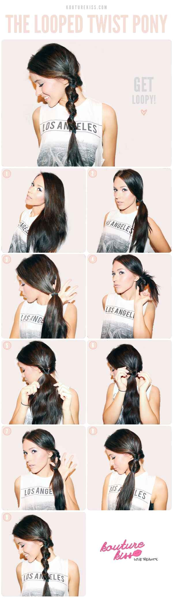twist your hair into these playful loops