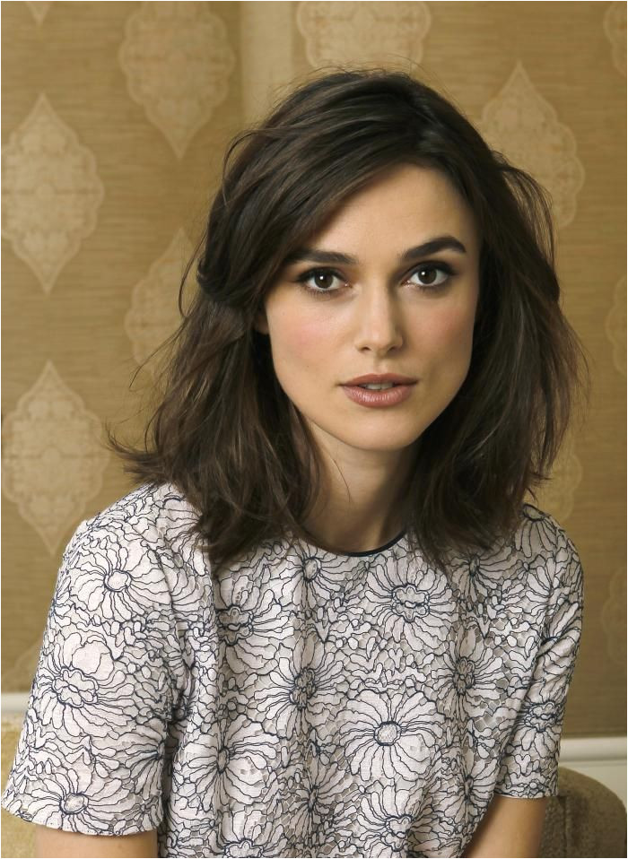 hair inspiration Keira Knightley messy shoulder length bob Fine hair but plenty of it Square face shape