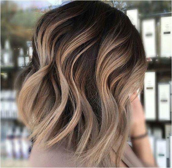Waves ashy ombre short dark brown light Balayage Brunette Short Baylage Short Hair Ombre