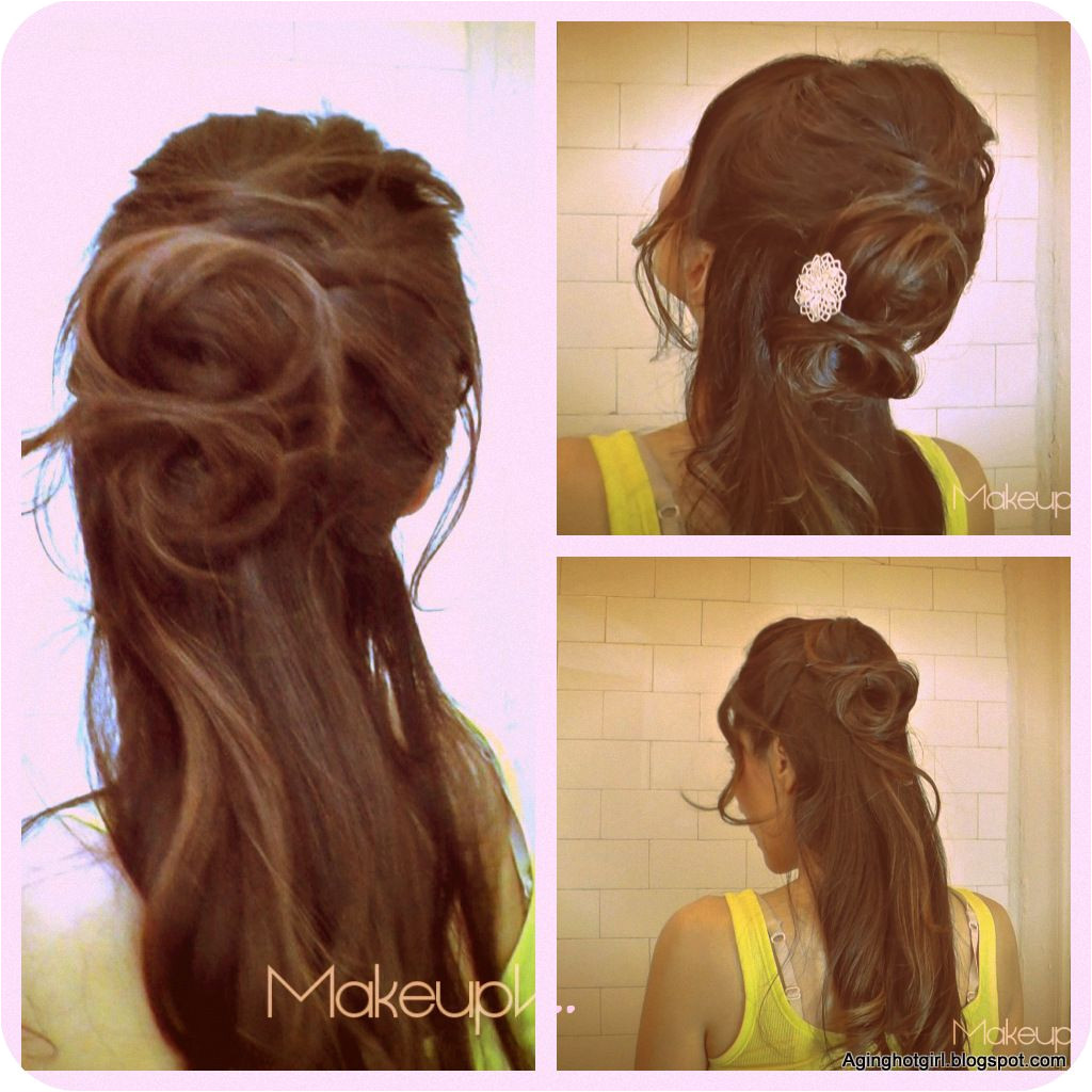 How to Flower Bun Chignon Make a Rose hairstyles updos half up