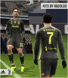 Juventus 2018 19 Third kit For PES 2013 Credit AbdoLGR Download Link