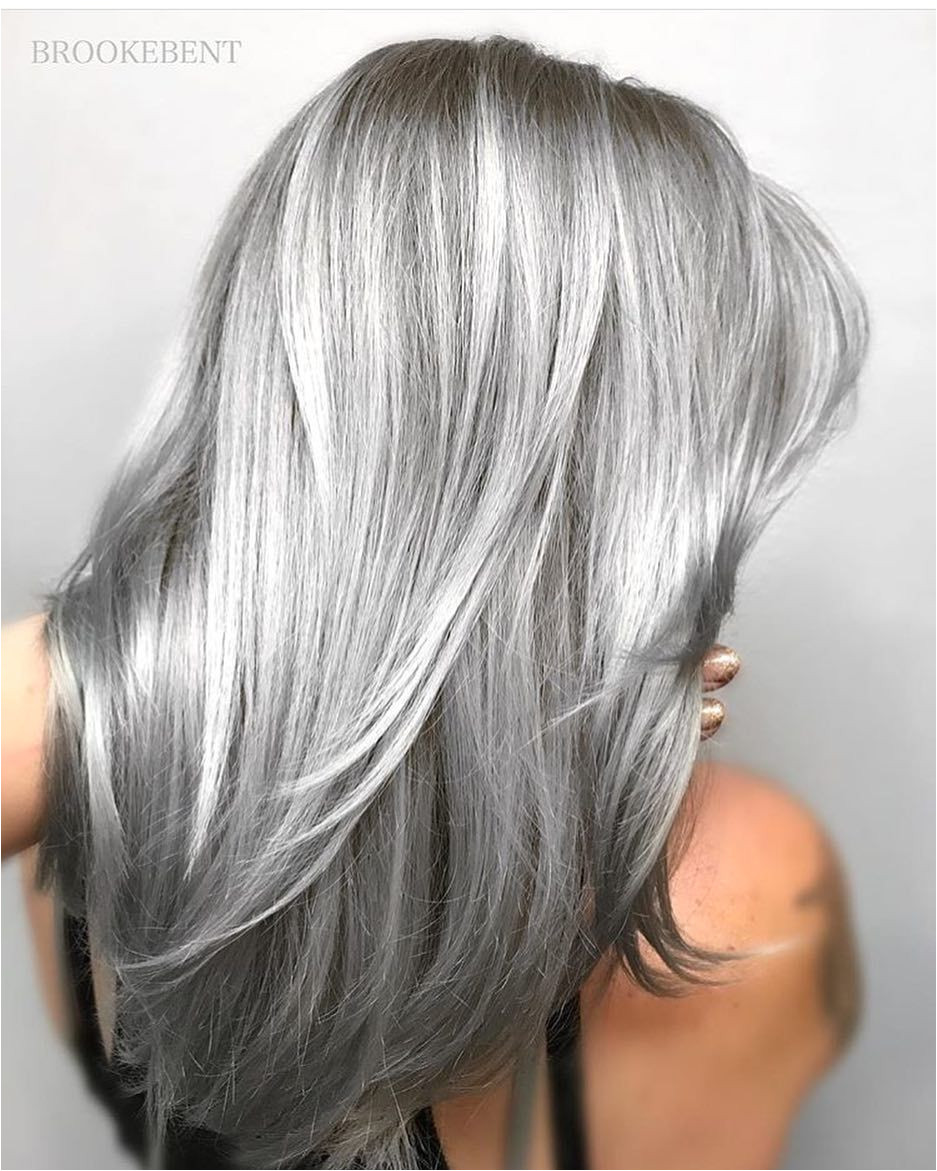 low lights on gray hair