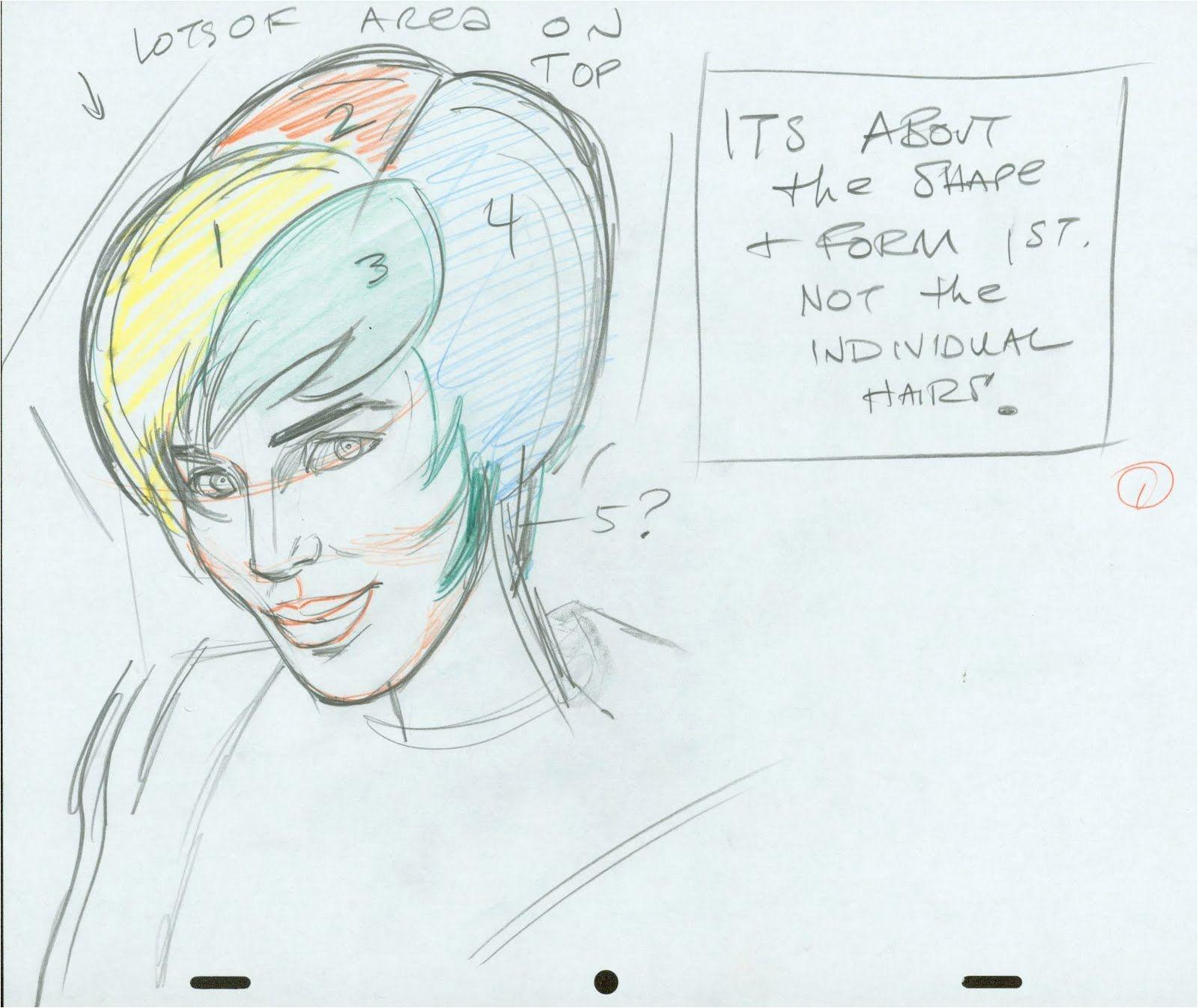 John K Stuff Cartoonist Warm Up Exercises Girls Hair