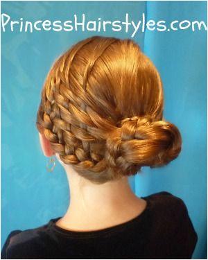 Basket weave bun hairstyle tutorial