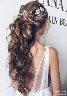26 Ulyana Aster Long Wedding Hairstyles Half Up Half Down