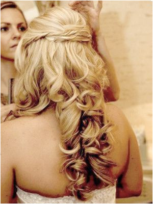 This is a popular prom look and works perfectly with medium to long hair