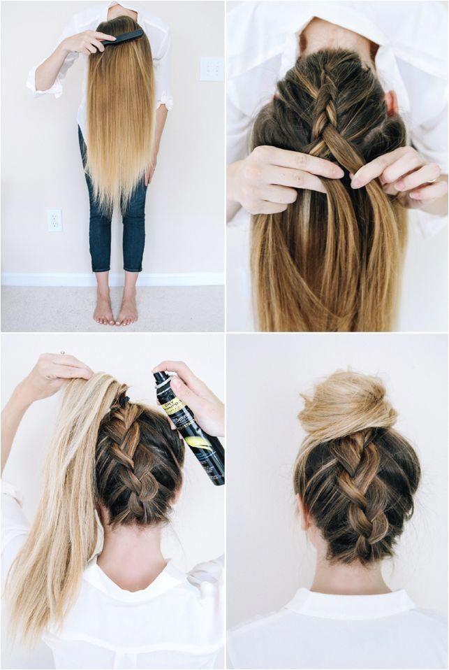 Follow this tutorial for an easy upside down braid ad easyhairstylesstepbystep