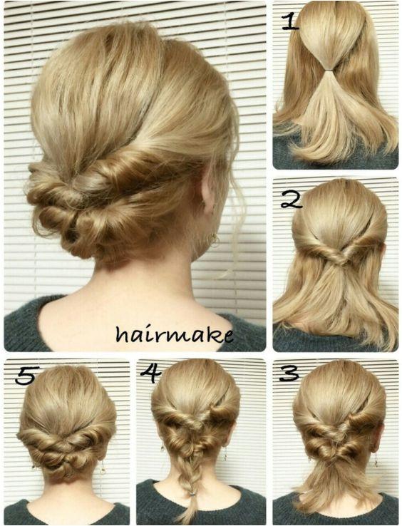 Easy French Twist Wedding Hair Tutorial