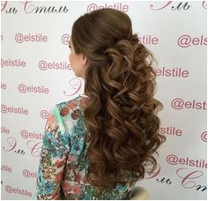 Big curls half up half down wedding hairstyles Quinceanera Hairstyles Quince Hairstyles Big