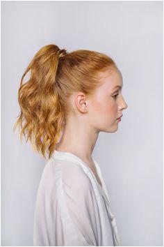 chic ponytail DIY Wedding Hairstyles