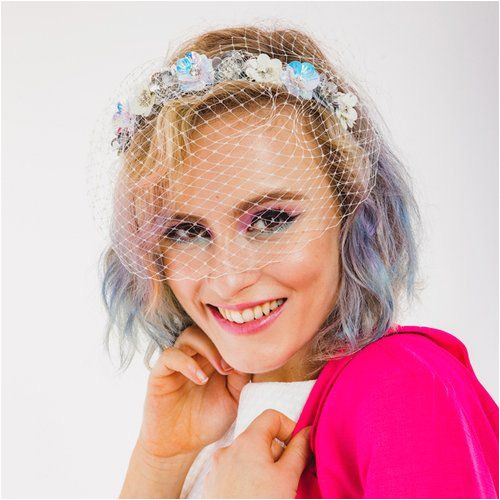 Magic Garden Birdcage Veil by Rock n Roll Bride for Crown and Glory