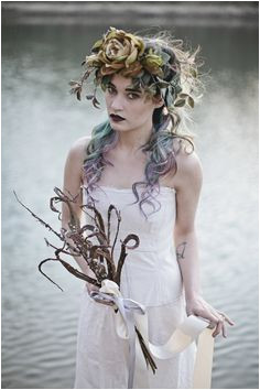 LOVE this Lady of the Lake shoot featured on the Rock n Roll Bride Girls Art & Style By Adolfo Vásquez Rocca D