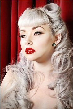 perfect bangs Classic Look with Pin up Hairstyles for Long Hair Vintage Hairstyles
