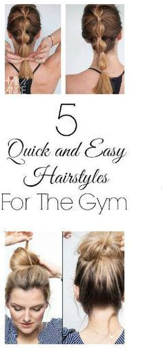 5 Quick and Easy Hairstyles Perfect for the Gym Tried and true they are