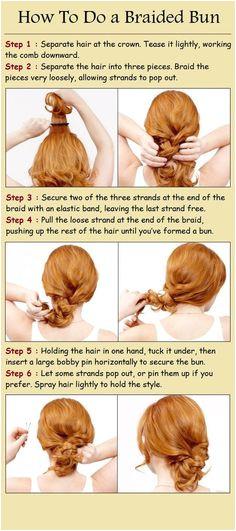 messy braid low bun Diy Hairstyles Pinterest Hairstyles Braided Bun Hairstyles Workout