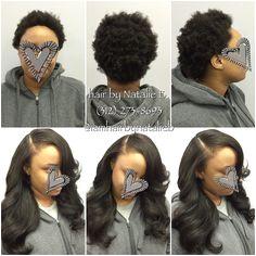 Full Sew In Hair Weave w Leave Out FLAWLESS✨ FOLLOW Hair by Natalie B 312 273 8693 IG iamhairbynatalieb FB Hair by Natalie B