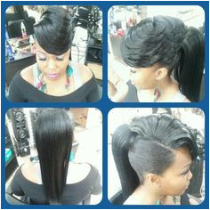 I would probably bun it up really · Weave Ponytail HairstylesPonytail