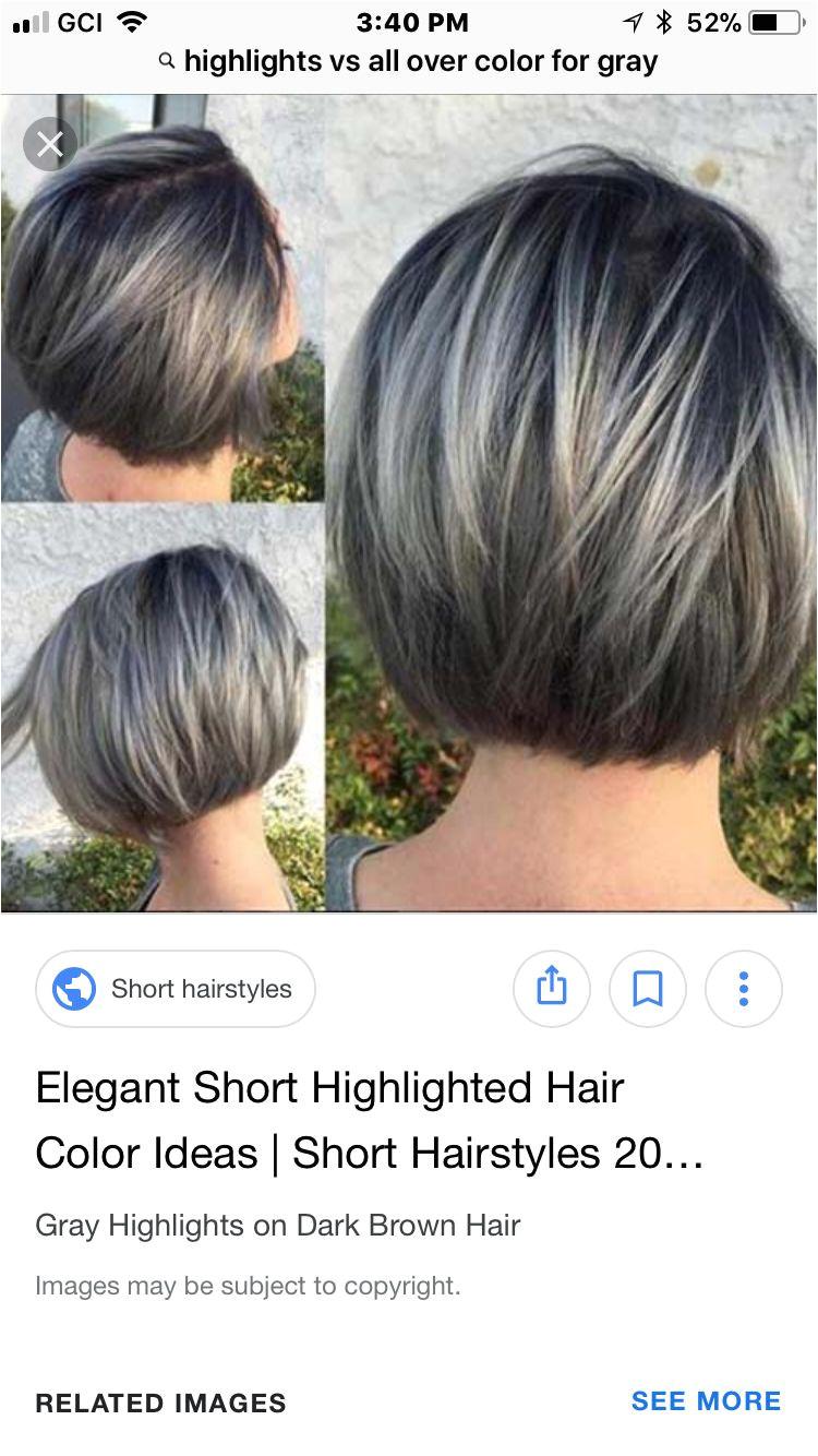 New bob grey hair