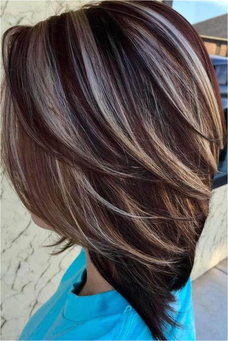 Short Hairstyles Chunky Highlights Stunning Fall Hair Colors Ideas for Brunettes 2017 4