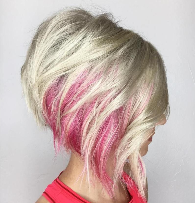 Short Hairstyles Pink Highlights 100 Mind Blowing Short Hairstyles for Fine Hair In 2018