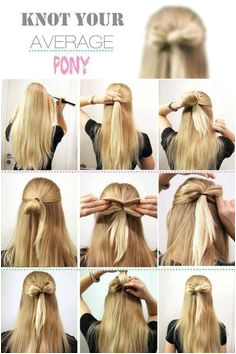 How to hair bow hair style Cute DIY Projects
