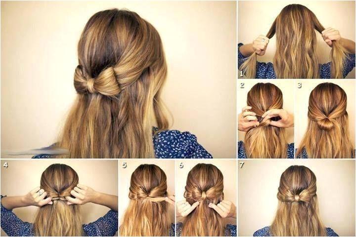 Hair bow hairstyle diy
