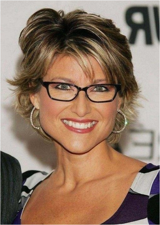 hairstyle over 60 short with glasses