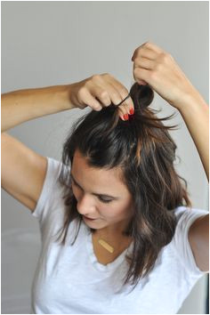 how to do a half top knot for short hair via mystylevita Short Hair Buns