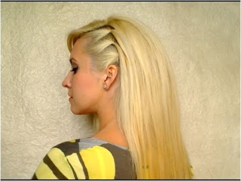 Cute easy party hairstyle for medium hair BACK TO SCHOOL everyday hairdo with volume