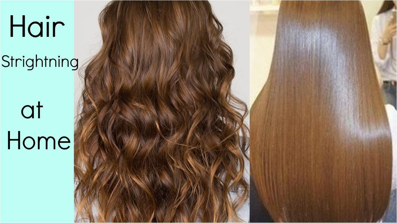 Hair Straightening at home without Hair Straightener heat HINDI