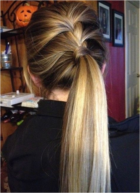 Cute Everyday Hairstyles Side Lace Braid Ponytail Hairstyle