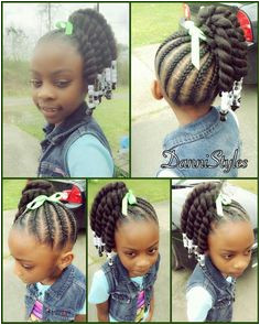 This is very cute and simple dawildone Kids Braided Hairstyles Children Braided Hairstyles
