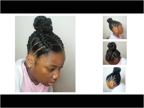 Ringlet PigTails on Natural Hair Kids Collab with Brown Girls Hair Flexirod Set