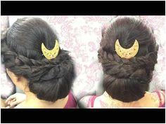 Party hairstyle Braided lower bun mamta grg