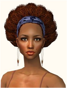 Sims 2 Afro Hairband by Nouk MTS Sims 4 Medium Hair Styles