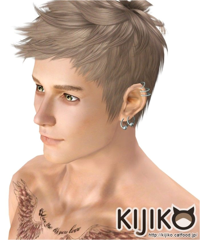 Faux hawk hair 017 for males by Kijiko Sims 3 Downloads CC Caboodle