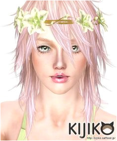 Pink & Fluffy long hair version for females by Kijiko Sims 3 Downloads CC Caboodle