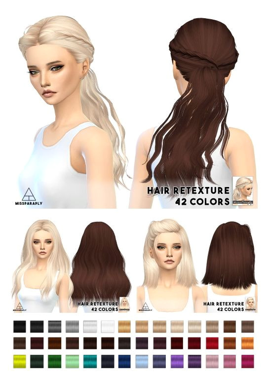 Miss Paraply Hair retexture Skysims hairs • Sims 4 Downloads