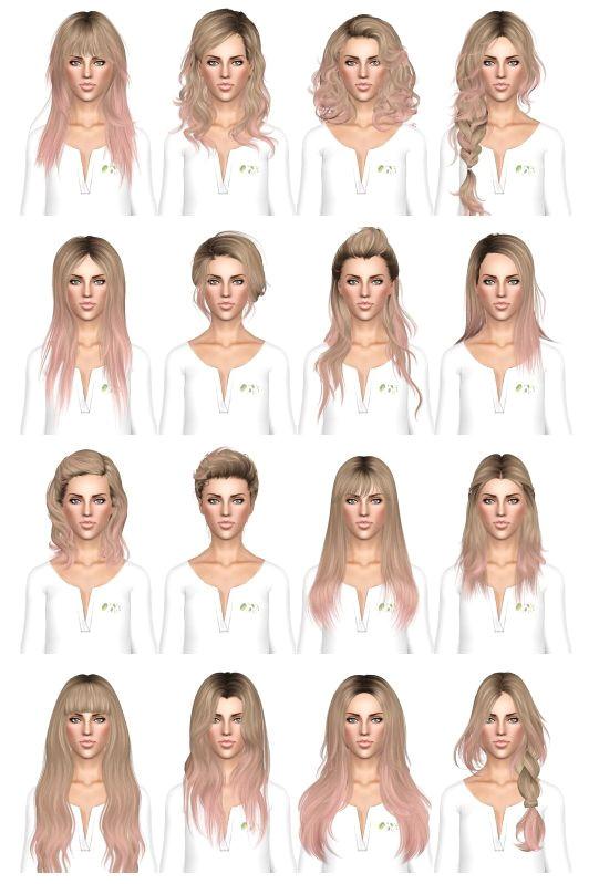 Hair dump 3 by July Kapo for Sims 3 Sims Hairs