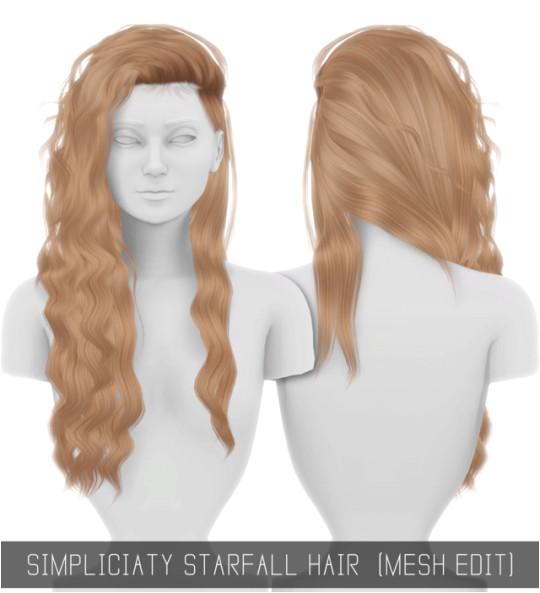 [Simpliciaty] Sims Hair Sims 4 Curly Hair Wavy Hair Short Hair